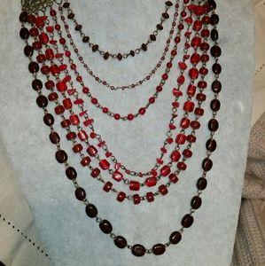 Jewelry - Vintage Antique Gold, Berry, Cherry & Burgandy Wat